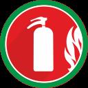 Оборудование для противопожарной защиты. Пожарные рукава, огнетушители, пожарные шкафы, знаки пожарной безопасности.