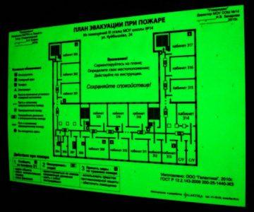 Профессиональная разработка планов эвакуации, фотолюминесцентная печать. Грамотный план эвакуации обеспечит оперативную эвакуацию людей при пожаре.